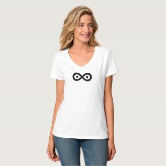 Fácil amar la camiseta para las mujeres con vista
