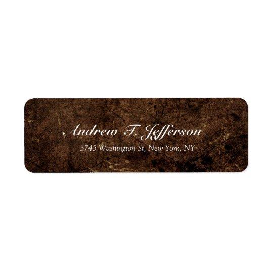Fácil profesional de piedra de Brown de la Etiquetas De Remite