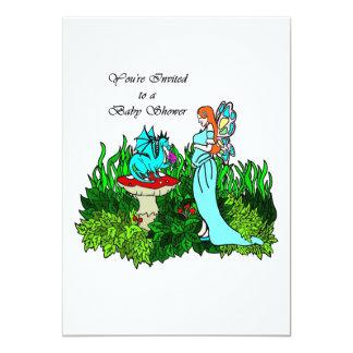 Faerie embarazada y dragón de la invitación de la invitación 12,7 x 17,8 cm