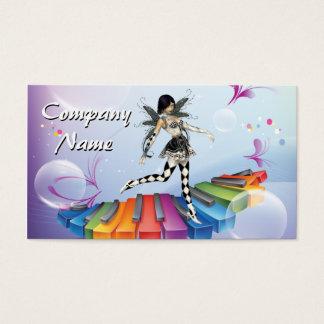 Faerie musical del teclado tarjeta de visita
