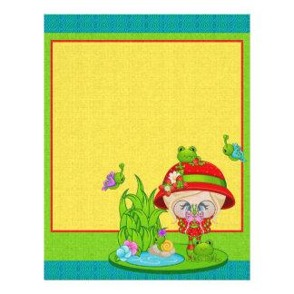 Faery de la rana del amante de naturaleza flyer a todo color