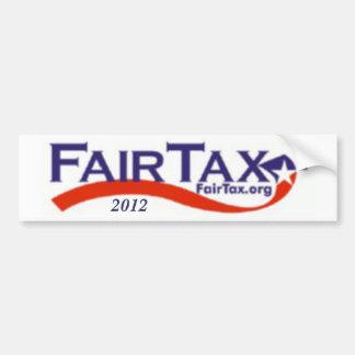 fairtaxlogo, 2012 pegatina de parachoque