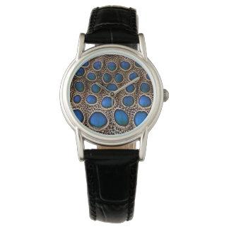 Faisán manchado azul del pavo real reloj