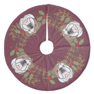 Falda Para El Árbol De Navidad De Forro Coralino Falda inglesa del árbol de navidad del dogo de la