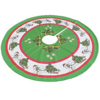 Falda Para El Árbol De Navidad De Forro Coralino Samoyedo con la falda de encargo del árbol del