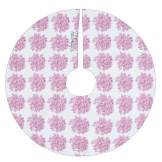 Falda Para El Árbol De Navidad De Poliéster Acebo helado rosa