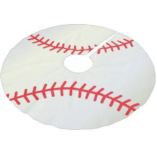 Falda Para El Árbol De Navidad De Poliéster Amantes del béisbol de las Felices Navidad