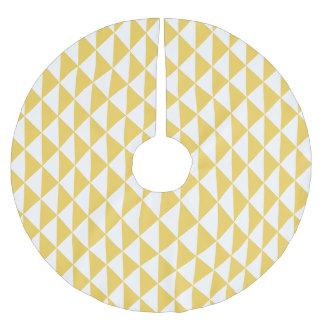 Falda Para El Árbol De Navidad De Poliéster Amarillo de la primavera con la flecha geométrica