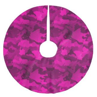 Falda Para El Árbol De Navidad De Poliéster Camo rosado