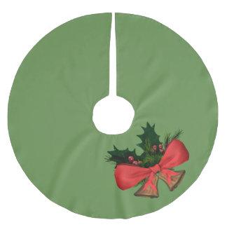 Falda Para El Árbol De Navidad De Poliéster campanas de navidad