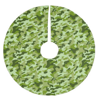 Falda Para El Árbol De Navidad De Poliéster Camuflaje verde - falda del árbol de navidad