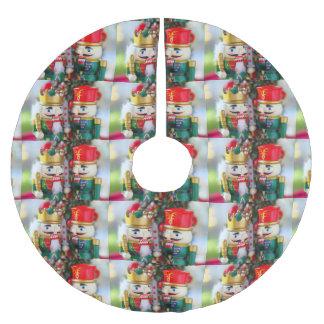 Falda Para El Árbol De Navidad De Poliéster Cascanueces coloridos