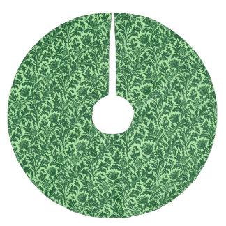 Falda Para El Árbol De Navidad De Poliéster Damasco del cardo de William Morris, verde