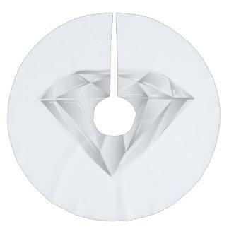 Falda Para El Árbol De Navidad De Poliéster Diamante blanco para mi amor