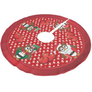 Falda Para El Árbol De Navidad De Poliéster Diversión del navidad del búho