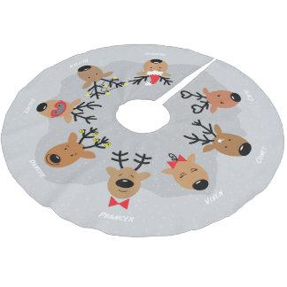 Falda Para El Árbol De Navidad De Poliéster El reno de Santa