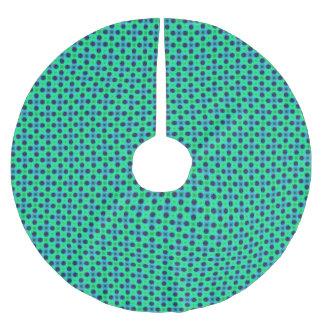 Falda Para El Árbol De Navidad De Poliéster Extracto geométrico azul púrpura verde
