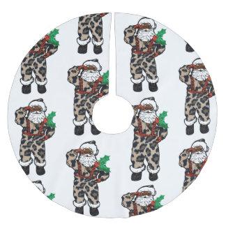 Falda Para El Árbol De Navidad De Poliéster falda africana del árbol de Papá Noel del leopardo