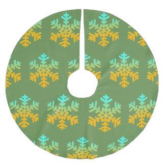 Falda Para El Árbol De Navidad De Poliéster Falda de encargo amarilla azul del árbol de los