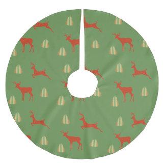 Falda Para El Árbol De Navidad De Poliéster Falda de encargo del árbol del tiempo del navidad
