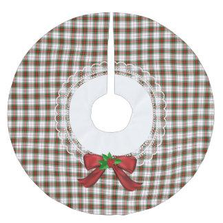 Falda Para El Árbol De Navidad De Poliéster Falda de rey George Festive Plaid Tree de Stewart