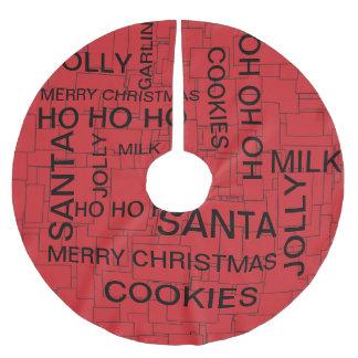 Falda Para El Árbol De Navidad De Poliéster Falda del árbol de navidad del rompecabezas de la