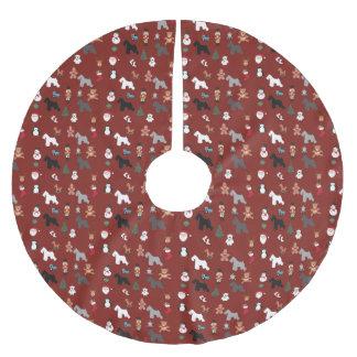 Falda Para El Árbol De Navidad De Poliéster Falda del árbol de navidad del Schnauzer