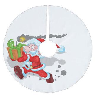 Falda Para El Árbol De Navidad De Poliéster Falda del árbol de Santa del tiempo que hace