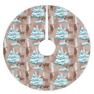 Falda Para El Árbol De Navidad De Poliéster Falda del árbol del modelo del día de fiesta de
