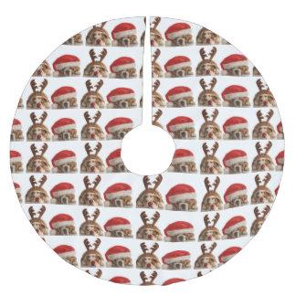 Falda Para El Árbol De Navidad De Poliéster Falda festiva del árbol de navidad del dogo lindo