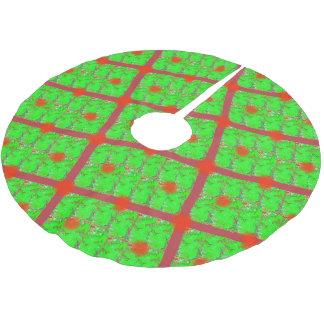 Falda Para El Árbol De Navidad De Poliéster Falda iridiscente del árbol de navidad