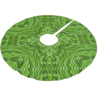 Falda Para El Árbol De Navidad De Poliéster Falda verde del árbol del caleidoscopio   del