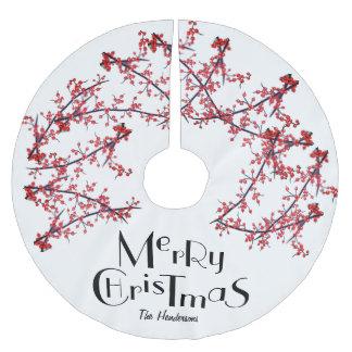 Falda Para El Árbol De Navidad De Poliéster Felices Navidad personalizadas -