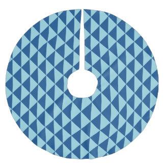 Falda Para El Árbol De Navidad De Poliéster Flechas geométricas del azul del paraíso de la