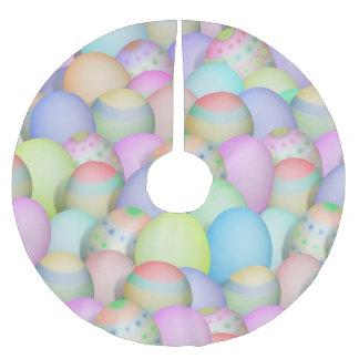 Falda Para El Árbol De Navidad De Poliéster Fondo coloreado de los huevos de Pascua