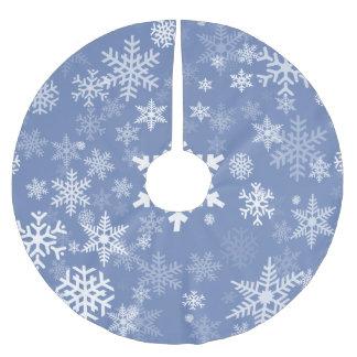 Falda Para El Árbol De Navidad De Poliéster Fondo gráfico del color del personalizar de los