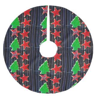 Falda Para El Árbol De Navidad De Poliéster Galletas del navidad