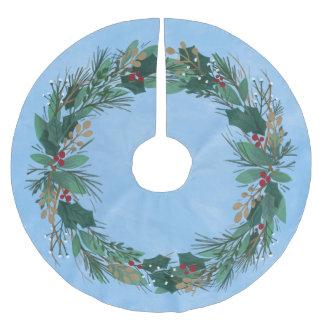 Falda Para El Árbol De Navidad De Poliéster Gloria a la falda del árbol de navidad de la