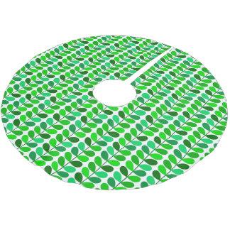 Falda Para El Árbol De Navidad De Poliéster Hojas, esmeralda y verde lima danesas de los