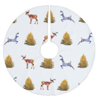 Falda Para El Árbol De Navidad De Poliéster Humor colorido del navidad de la falda de encargo