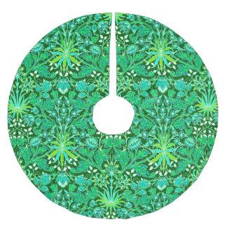 Falda Para El Árbol De Navidad De Poliéster Impresión del jacinto de William Morris, verde