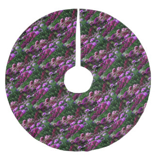 Falda Para El Árbol De Navidad De Poliéster Jardín de flores en verano