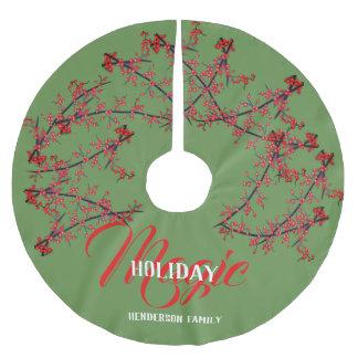 Falda Para El Árbol De Navidad De Poliéster Magia del día de fiesta personalizada -