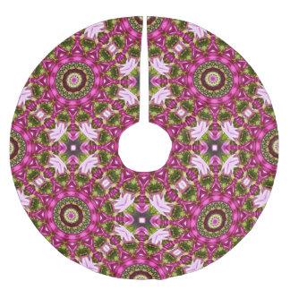 Falda Para El Árbol De Navidad De Poliéster Mandala rosada festiva de la flor para el navidad