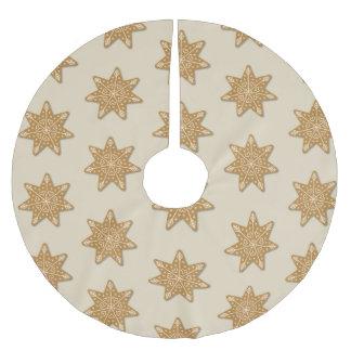 Falda Para El Árbol De Navidad De Poliéster Modelo adornado pan de jengibre de la galleta de
