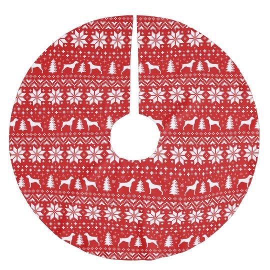 Falda Para El Árbol De Navidad De Poliéster Modelo alemán del navidad de los indicadores de