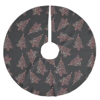Falda Para El Árbol De Navidad De Poliéster Modelo color de rosa moderno elegante del árbol de