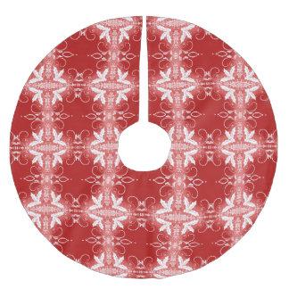 Falda Para El Árbol De Navidad De Poliéster Modelo decorativo del extracto del ornamento del