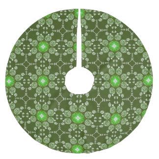 Falda Para El Árbol De Navidad De Poliéster Modelo decorativo del Poinsettia del navidad verde
