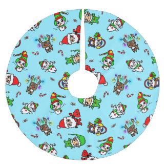 Falda Para El Árbol De Navidad De Poliéster Modelo dulce del carácter del navidad de Kawaii